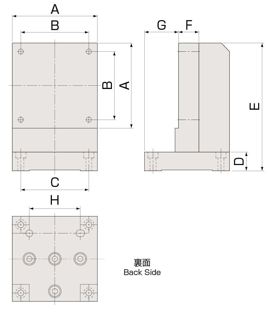 自動機用Zブラケット 寸法図